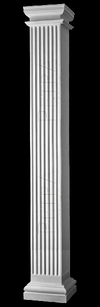 Interior column column cover fiberglass column grg column for Interior square columns